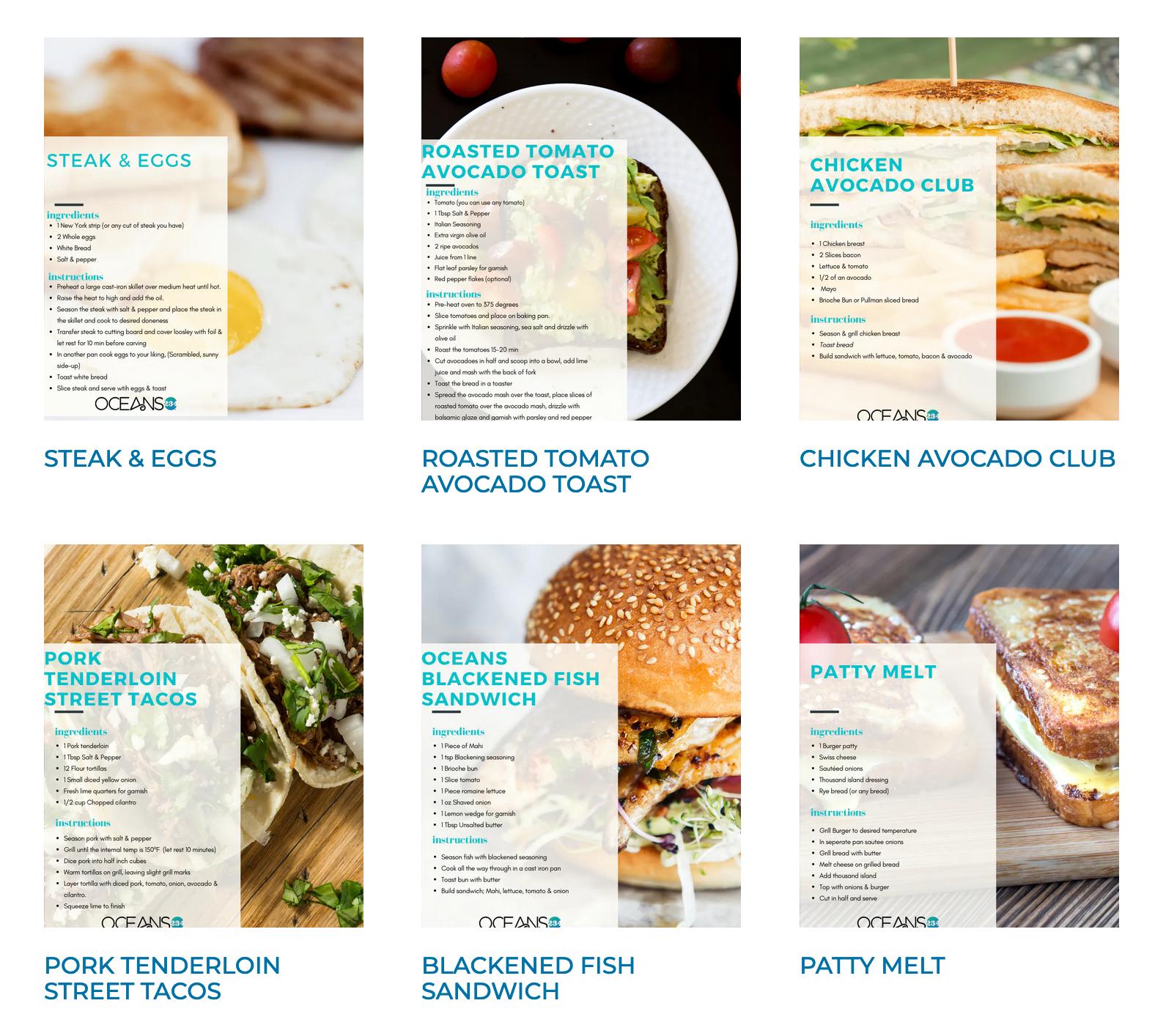 Ocean 234 recipes